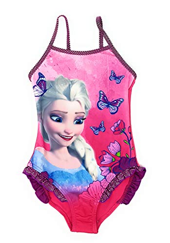 Die Eiskönigin - Frozen Mädchen Badeanzug Bademode (Lila, 4 Jahre (Größe 104))