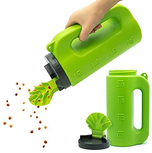Handstreuer für Dünger, Rasensamen, Splitt, Salz etc. - Hochwertiger und robuster Samenstreuer zum Samen ausbringen