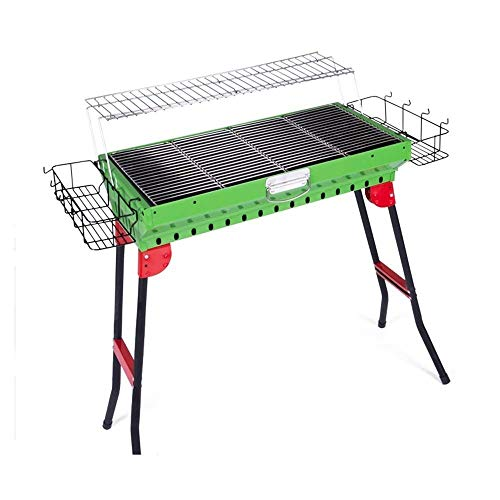 Buy Bargain Nhlzj BBQ Supplies/Barbecue Portable Barbecue Grill Folding Charcoal Barbecue Rack 3-5 S...
