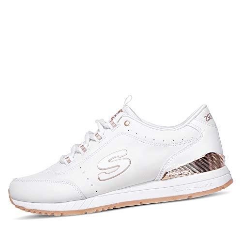Skechers 907-wht_39, Zapatillas Mujer, Blanco, EU