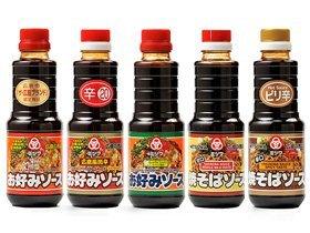 広島風 お好み焼きソース ミツワ お好みソース&焼きそばソース5種類セット