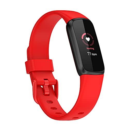 Tiggo Correa para Fitbit Luxe,Bandas De Correa Repuesto la pulsera de actividad y bienestar ,Correas Reloj,Recambio Brazalete Correa Repuesto Strap Wristband para FitbitLuxe Accessories (rojo)