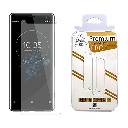 Gorilla Tech Screen Protector for Xperia XZ Premium Case Friendly Premium Tempered Glass, 3D Touch and Face ID Compatible, Easy Bubble-Free Installation, 9H Hardness, Anit Glare, Anti Scratch