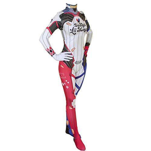 Disfraz Cosplay Harley Quinn Suicide Squad para Mujer Y Niña Costume de Halloween Carnaval Monos/L