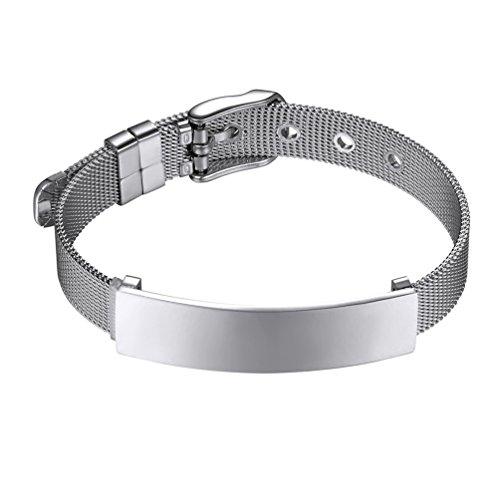 PROSTEEL Men Bracelet,Bracelets for Women,Slider Bracelets,Link Bangles,Band,Stainless Steel,PSH2881G-21