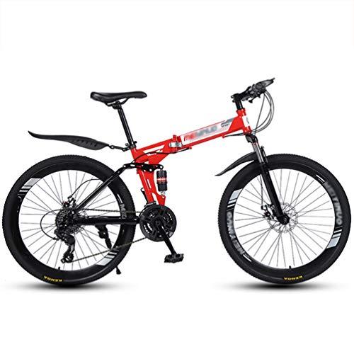 LAX Bicicleta Plegable Montaña 26 Pulgadas, 21 Velocidad De Suspensión De Bicicleta...