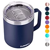 Best Mug Insulated - SUNWILL 14 oz Coffee Mug, Vacuum Insulated Camping Review