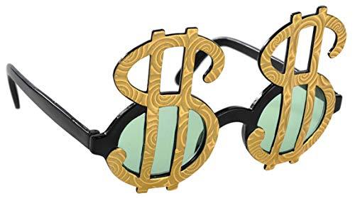 Amscan 250024-55 Spaß-Brille Dollar-Zeichen, Kunststoff, Mehrfarbig