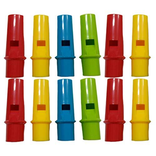 STOBOK 12 stücke slide whistle instrument spaß und cool noise maker neuheit spielzeug für kinder jungen gastgeschenke (gelegentliche farbe)