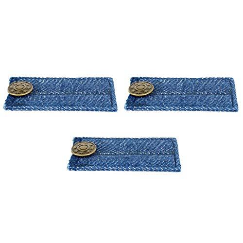 Extensores de botones para jeans y extensores de cintura para pantalones de traje 9 piezas multicolores
