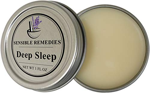 Natural Sleep Balm for Fast Relief of Insomnia and Restless Sleep Vegan All Natural Essential Oil Formula - Sensible Remedies 1 Fl Oz
