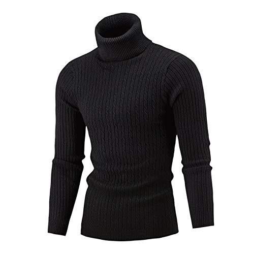 FGHSD Heren trui Winter Hoge hals Dubbele laag Warm En Dikke Heren Slim Pullover Coltrui Slim-fit trui Mannen