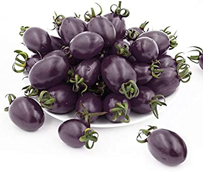 Cherry Tomato Seeds Yellow, red, Black, Purple, Tomato Seeds purle are Used for Planting 200 Non-Genetically Modified Seeds in Families, Vegetables, Outdoor Gardens and Indoors.