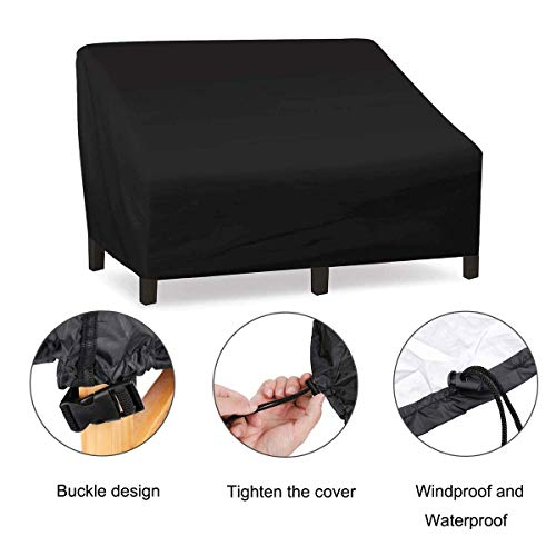 Patio Chair Covers, Lounge Deep Seat Cover, Waterproof and Durable Outdoor Large Lawn Patio Furniture Covers (137x97x74cm /54x38x29in)