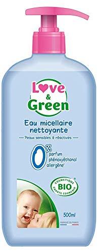 Love & Green Eau Micellaire Nettoyante Bio 0% 500 ml