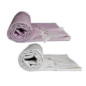Riyashree Organic Cotton Silky Soft Bhagalpuri Dull chadar Blanket for All Season ( 53*96 in ) Combo Pack of 2 RiBDull…