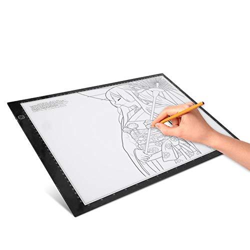 Boquite Ultradünne tragbare dimmbare LED-Lichtbox-Nachverfolgungslichtpad Copyboard Sketching-Zeichentisch für Künstler, die Sketching-Animationen zeichnen