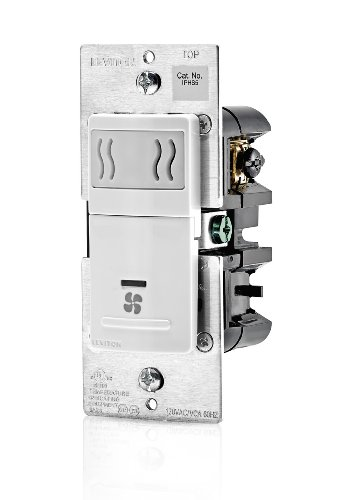 Leviton IPHS5-1LW Decora In-Wall Humidity Sensor & Fan Control , 3A, Single Pole, White