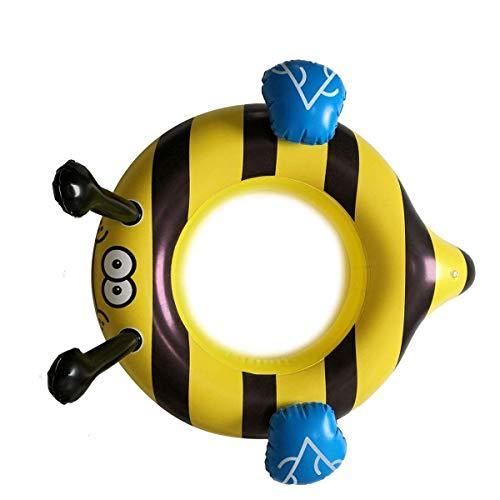 QUN FENG Schwimmring, Aufblasbares Schwimmspielzeug im süßen Bienenmuster Poolspielzeug Schwimmringe für Poolparty Dekorationen Geeignet für über 6 Jahre