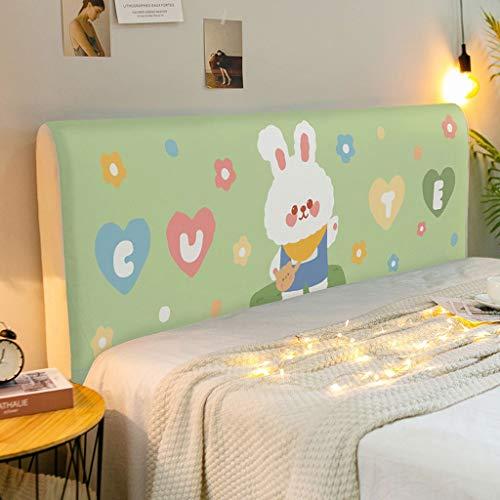 NHK-MX DIY Precioso Funda de cabecero de Cama para la decoración del Dormitorio de los niños elástica Funda Cubierta para Cabecero de Cama 120-220cm (Color : 11, Size : 190cm)