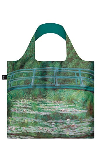 LOQI LOQI Museum CLAUDE MONET Japanese Footbridge Bag Tote da viaggio, 50 cm, Blu (Japanese Footbridge)