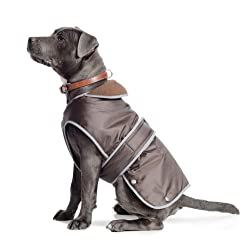 To fit chest 72cm to 88cm Waterproof surface and cosy fleece lining. Zippered harness slot for lead attachment and reflective edges for safety. Chest-protector to help keep dogs clean and dry Elasticated neck and leg straps Age range description: All...