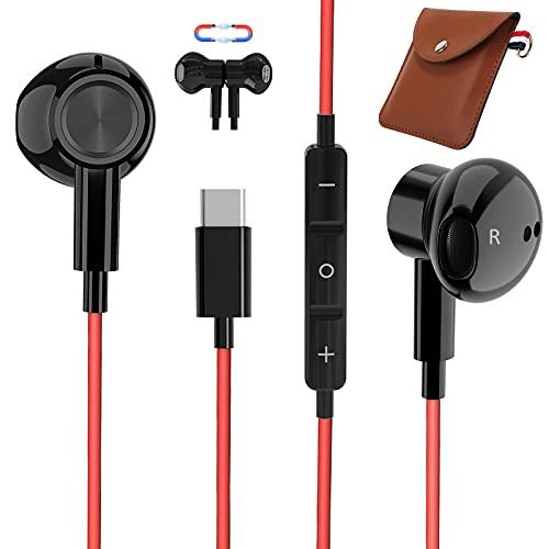 Auricolari USB C, TUBhanggai Tipo C In-Ear Cuffie, Tipo C Auricolari cablati con microfono e controllo del volume per Huawei Mate 40 P40 P30 Pro Pixel 5 4 3 XL Samsung S21 S20 FE Note 20 OnePlus 9 Pro