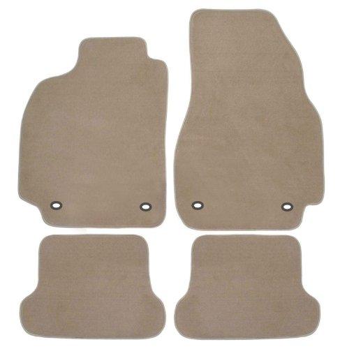 Royal beige Paßform Fussmatten für Yaris 5 türig Baujahr ab Oktober 2011 mit Mattenhalter (für Knebel zum Drehen) auf Fahrermatte