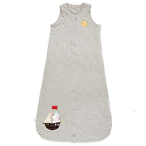 Schlafsack baby Winter Junge Mädchen Neugeborener - 2.5TOG kinder Schlafanzug. Grau Boot. (130CM/3-6Jahre)