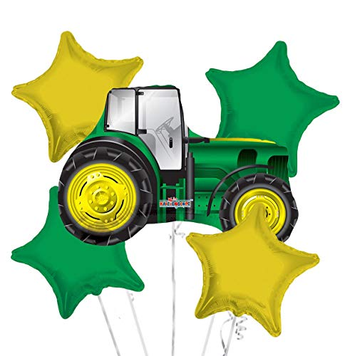 Happy Birthday Tractor Balloon Bouquet Party Supplies