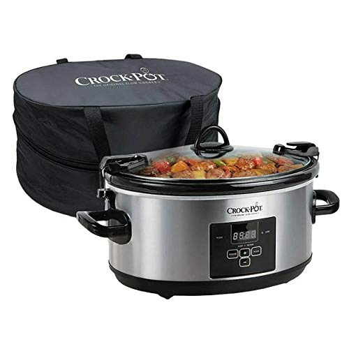 Crock-Pot 7-Quart Programmable Cook & Carry Slow Cooker with Digital Timer & Thermal Bag