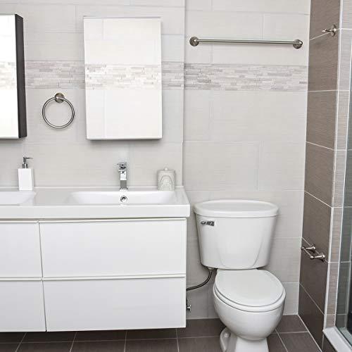Amazon Basics Bathroom Hardware Accessories Set, 4-Piece - Satin Nickel