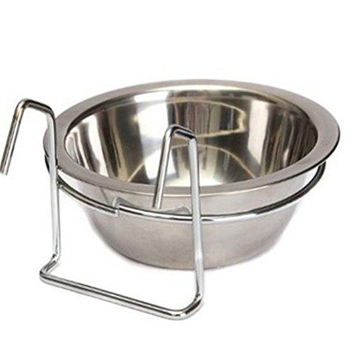 Näpfe zum Aufhängen im Käfig mit Edelstahlschnalle- und Haken Wasserspender-Schüsseln Nahrung für Haustiere Hunde Katze
