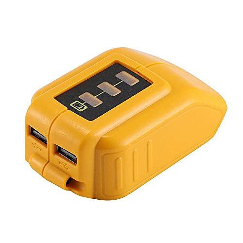 ATING DCB090 USB cargador de teléfono adaptador para batería LiIon Power para Dewalt Slide 12/20V