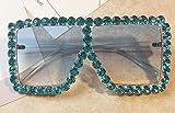 Jbwlkj Crystal Diamond Oversized Sonnenbrille für Frauen Mode Candy Shades Uv400 Brand Brille...