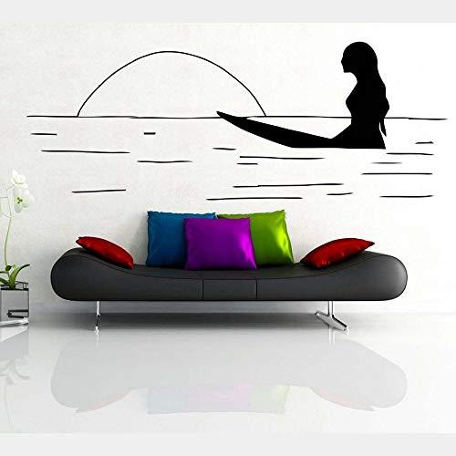 Zdklfm69 Adhesivos Pared Pegatinas de Pared Calcomanía de Vinilo para decoración de Dormitorio y hogar con Tabla de Surf de Agua de Surf 110x42cm