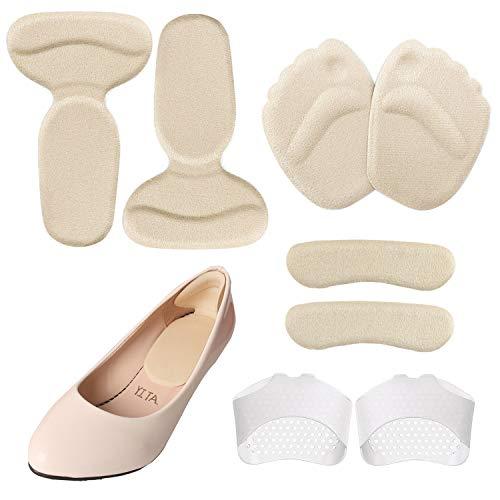 cococity 4 Paar High Heels Kissen, Anti-Rutsch-Schuhkissen, Einlegesohlen Vorfuß, Fersenhalter, Ballenpolster Fersenpolster für zu große Schuhe