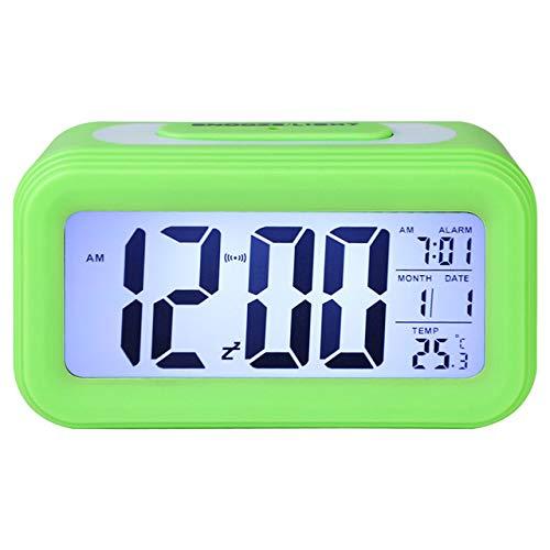 LKU Wekker Spiegel wekker LED digitale display elektronische tijdtemperatuur kalender horloge wekker USB opladen