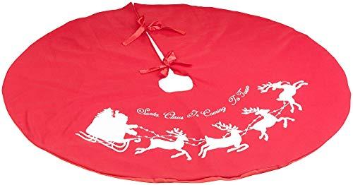 PEARL Christbaumdecke: Weihnachtsbaum-Decke in Rot & Weiß mit Santa-Claus-Motiv, Ø 100 cm (Weihnachtsdecke für Tannenbaum)