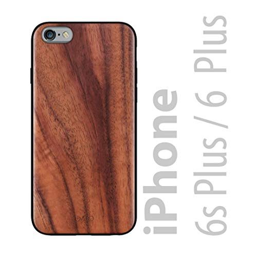 iATO iPhone 6 Plus / 6s Plus Wooden Case - Real Walnut Wood Grain Premium Protective Back Cover. Unique, Stylish & Classy Snap on Bumper Accessory Designed for iPhone 6+ 6s+