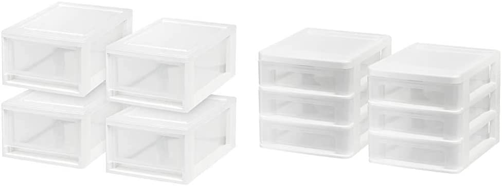 IRIS USA MSD-1 Compact Stacking 6 4-pack White Seattle Mall Quart Drawer Be super welcome