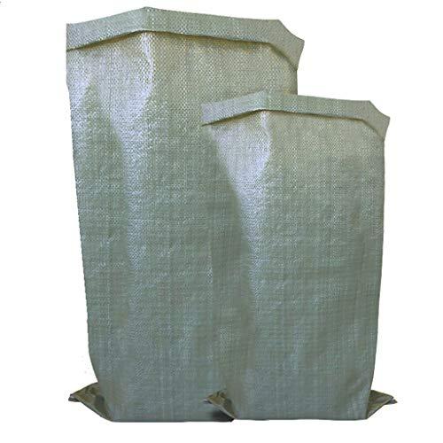 Sacs de sable for lutte contre les inondations, multi-usages polypropylène Sandbags, sacs de sable avec grande capacité de charge portant et une forte résistance à la compression (100 pièces)