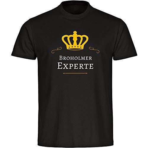 Sputnik-Shirts - Maglietta Broholmer Experte, da uomo, taglie dalla S alla 5XL, colore: Nero Nero S