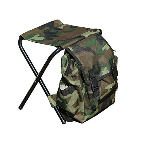 YZCH Camping Chairs,Outdoor Foldable Carry Stool Chair Storage Bag Backpack Hiking Camping Fishing