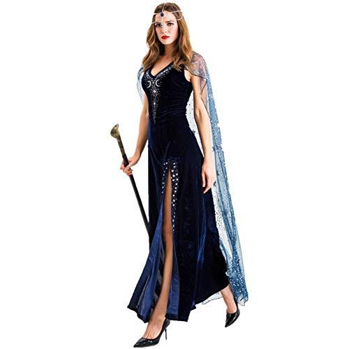 NAXIAOTIAO Vestido De Halloween del Faran Cleopatra, La Reina Cosplay Falda, Traje Diosa Griega,M