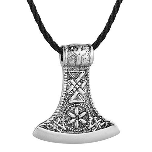 DTKJ Antike slawische Axt Anhänger Amulett Kolovrat Symbol heidnische Blume Schmuck Amulette und Talismane Anhänger Halsketten