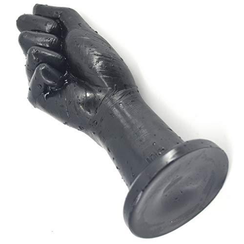 FJBreedFor 25 cm- Taza Negra SOBLE Feliz Feliz Massager Best Silicona DE ADULTURA Soft para PVC 100% Masajeador de Mano Secreto Enorme - Puño Diámetro: 3.54inches / 9cm FNNJYJ0106L