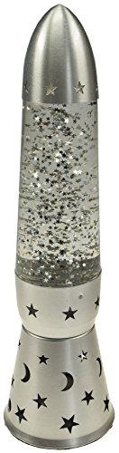 Teelicht Dekolampe mit Glitter I Teelicht/Kerzen Betrieb Fenster-Deko I Metall Gehäuse mit Glitterteilchen I Silber