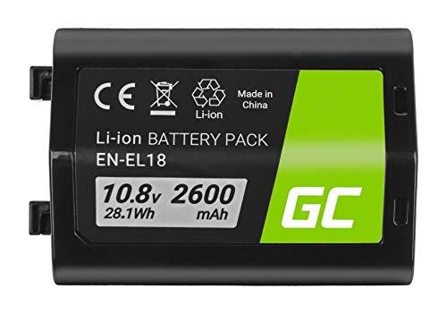 Green Cell® EN-EL18 ENEL18 Batería para Nikon D4 D4S D5 D800 D810 Cámara Full Decoded (Li-Ion Celdas 2600mAh 10.8V)