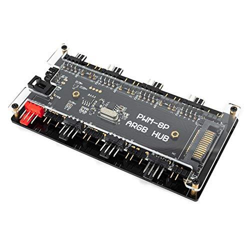 Ranana Control De Temperatura PWM De 4 Pines Direccionable Splitter Chasis Concentrador De Ventilador Salida Directa con Interfaz De Potencia Más Expresiva Y Eficiente serviceable